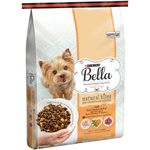 Purina Bella Natural Bites with Real Chicken & Beef & Accents ofSweet Potatoes & Spinach Small Breed Dry Dog Food
