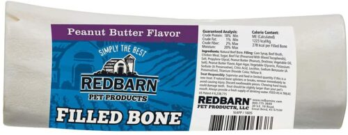 """Redbarn 3 to 6"""" Filled Dog Bones (Peanut Butter, Cheese N' Bacon, Beef), Natural Long-Lasting Dental Treats; Suitable for Aggressive Chewers."""
