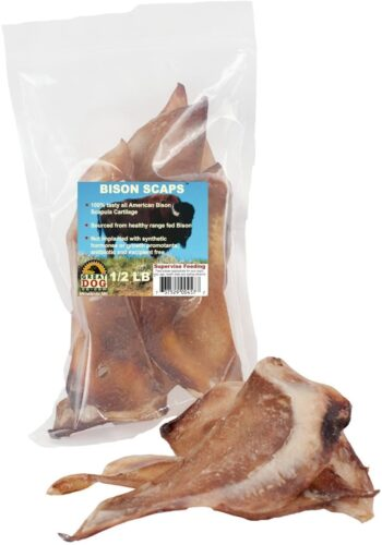 Great Dog Bison Scaps - 1/2 LB Bag - Sourced and Made in USA