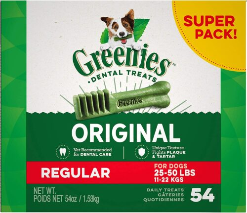 Greenies Original Regular Natural Dental Dog Treats (25 - 50 Lb Dogs)