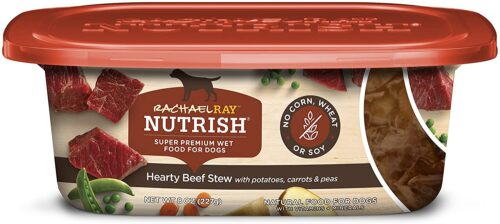 Rachael Ray Nutrish Premium Natural Wet Dog Food, Hearty Beef Stew Recipe, 8 Ounce Tub