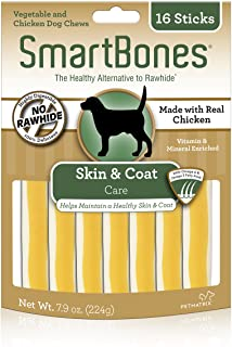 SmartBones Skin And Coat Care Sticks 16 Count, Rawhide-Free Chews For Dogs