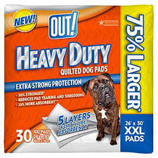 OUT! Heavy Duty XXL Dog Pads | Absorbent Pet Training and Puppy Pads