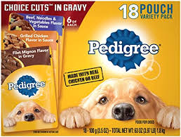 Pedigree Puppy Variety Pack Morsels in Sauce with Beef & Chicken Wet Dog Food Pouches