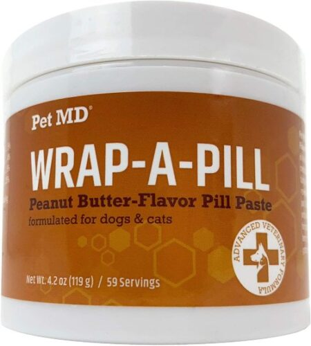 Pet MD Wrap A Pill Peanut Butter Flavored Pill Paste for Dogs