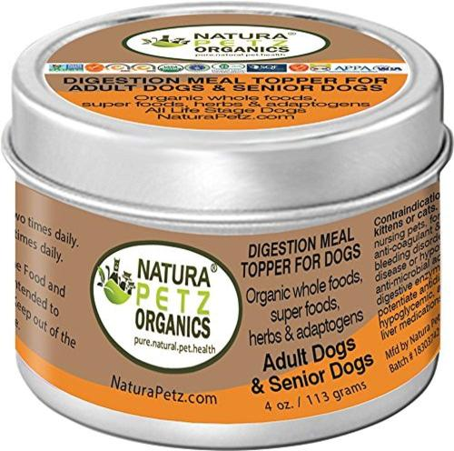 Natura Petz Organics Digestion Support Meal Topper for Adult & Senior Dogs
