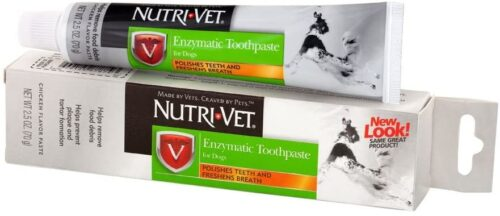 Nutri-Vet Enzymatic Toothpaste for Dogs | Non-Foaming & Quality Design | 2.5 Ounces