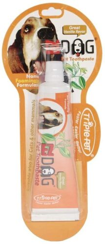 EZ DOG Toothpaste For Dogs | Dental Care For Dogs For Fresh Breath | Dogs Love the Taste | Vanilla Mint Dog Toothpaste