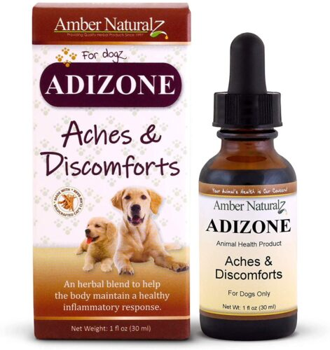 AMBER NATURALZ - ADIZONE - Aches & Discomforts - for Dogz - 1 Ounce