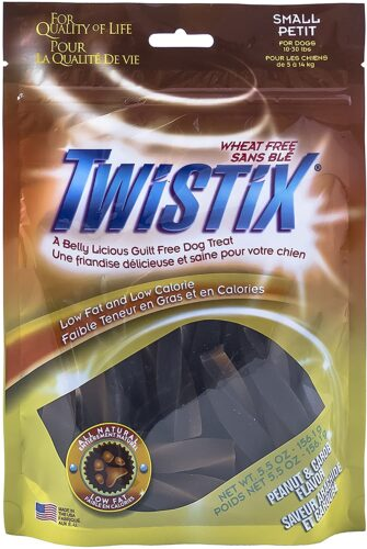 Twistix 5.5-Ounce Dental Chew Treat, Peanut And Carob Flavor, Small