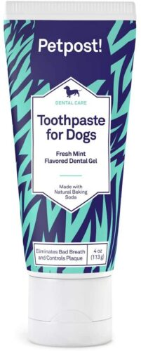 Petpost | Toothpaste for Dogs - Coconut Oil and Baking Soda Based Dental Gel That Naturally Kills Bad Breath - Plaque and Tooth Decay Gone - Mint Flavor (Mint Flavor, 4 oz.)