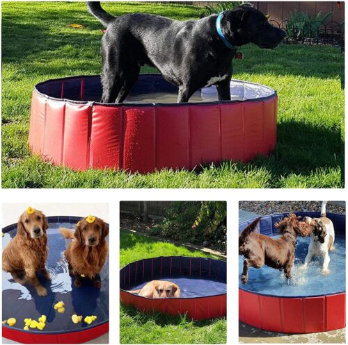 Yaheetech Foldable Pet Puncture Proof Pool